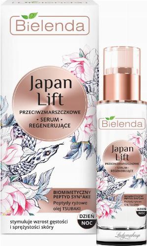 Bielenda - Japan Lift - Przeciwzmarszczkowe serum regenerujące do twarzy - Dzień/Noc - 30 ml