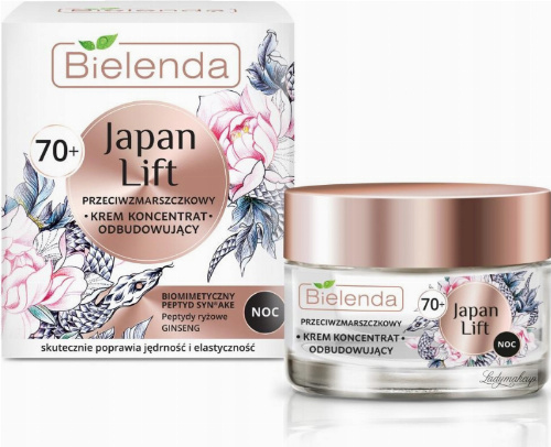 Bielenda - Japan Lift - Anti-wrinkle rebuilding face cream / concentrate - Night - 70+ - 50 ml