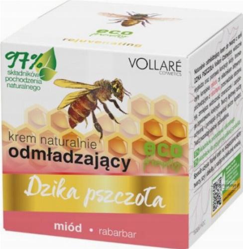 VOLLARE - Dzika Pszczoła - Naturalny, odmładzający krem do twarzy - miód, rabarbar - 50 ml