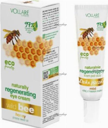 VOLLARE - Dzika Pszczoła - Naturalny, regenerujący krem pod oczy - 15 ml