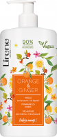 Lirene - Gentle shower and bath soap - Orange and Ginger - 500 ml