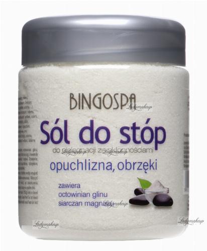 BINGOSPA - Sól do stóp ze skłonnościami do opuchnięć i obrzęków - 550g