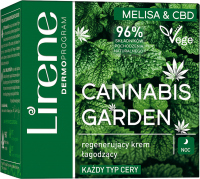 Lirene - CANNABIS GARDEN - Lemon Balm & CBD - Regenerating and soothing face cream (all skin types) - Night - 50 ml