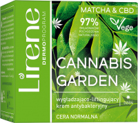 Lirene - CANNABIS GARDEN - Matcha & CBD - Smoothing and lifting antibacterial face cream (normal skin) - Day - 50 ml