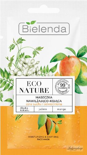 Bielenda - ECO NATURE - MOISTURINING & SOOTHING FACE MASK - Moisturizing and soothing mask for dry and dehydrated skin - 8 g