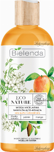 Bielenda - ECO NATURE - MOISTURIZING & SOOTHING MICELLAR WATER - Moisturizing and soothing micellar water (dry and dehydrated skin) - 500 ml