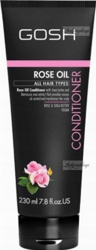 GOSH - ROSE OIL CONDITIONER - Odżywka do włosów z olejkiem różanym - 230 ml