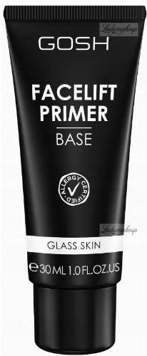 GOSH - FACELIFT PRIMER BASE - Ujędrniająca baza pod makijaż z efektem Glass Skin - 001 Transparent - 30ml