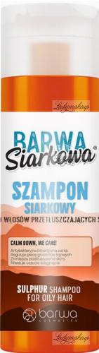 BARWA - BARWA SIARKOWA - SULPHUR SHAMPOO FOR OILY HAIR -Szampon siarkowy dowłosów przetłuszczających się - 180 ml