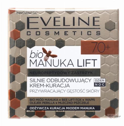 Eveline Cosmetics - BIO MANUKA LIFT - Silnie Odbudowujący Krem Kuracja przywracający gęstość skóry - 70+
