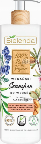 Bielenda - 100% Pure Vegan - SHAMPOO FOR COLORED HAIR - Vegan shampoo for colored hair - 400 g