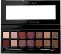 Sigma® - WARM NEUTRALS EYESHADOW PALETTE - Palette of 14 eyeshadows with a double brush