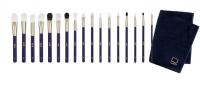 Hulu - Premium - A set of 17 professional make-up brushes by Daniel Sobieśniewski + free towel