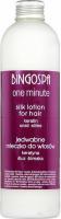 BINGOSPA - One Minute - Silk Lotion for Hair - Jedwabne mleczko do włosów z keratyną i śluzem ślimaka - 280 g