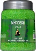BINGOSPA - Yoga Bath Salt - Bath salt with lotus and hemp oil - 850 g