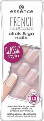 Essence - FRENCH manicure click & go nails - Sztuczne paznokcie - 847312 - 01 GOOD TO BE A GIRL