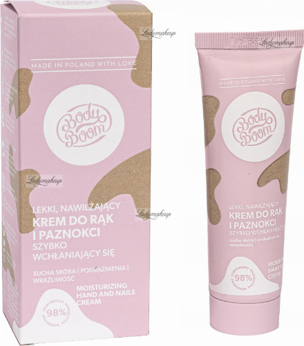 BodyBoom - Moisturising Hand and Nail Cream - Light, moisturizing hand and nail cream - 50 ml