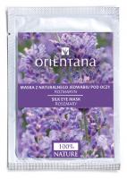 ORIENTANA - Maska z naturalnego jedwabiu pod oczy - Rozmaryn - 1 para