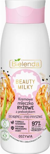 Bielenda - BEAUTY MILK - Nourishing Rice Shower & Bath Milk - Creamy rice milk with prebiotic for bath and shower - 400 ml