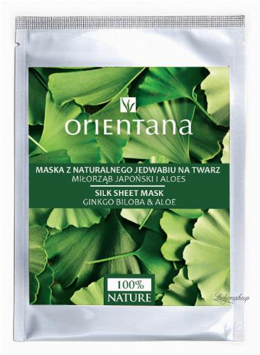 ORIENTANA - Maska z naturalnego jedwabiu na twarz - Miłorząb japoński i aloes