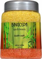 BINGOSPA - SPA & Beauty Bath Salt - Bath salt with the scent of Crème Brûlée - 850 g