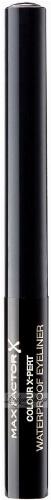 Max Factor - Colour X-Pert Waterproof Eyeliner - Wodoodporny eyeliner w płynie - 01 Deep Black