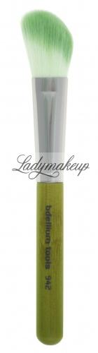 Bdellium tools - Green Bambu Series - Slanted Contour - Brush for blush and bronzer - 942B