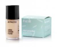 PAESE - Zestaw prezentowy - Podkład Long Cover 0.25 Sand + Puder ryżowy Rice Powder 10g