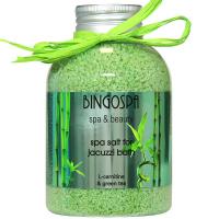 BINGOSPA - Spa & Beauty - Spa Salt for Jacuzzi Bath - Sól do kąpieli z L-karnityną i zieloną herbatą - 650 g