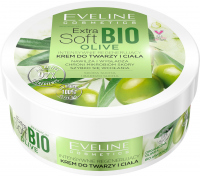 Eveline Cosmetics - Extra Soft Bio Olive - Intensively regenerating face and body cream - Dry and very dry skin - 200 ml