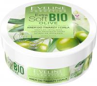 Eveline Cosmetics - Extra Soft Bio Olive - Intensywnie regenerujący krem do twarzy i ciała - Skóra sucha i bardzo sucha - 200 ml