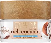Eveline Cosmetics - Rich Coconut Face Cream - Multi-nawilżający, kokosowy krem do twarzy (każdy rodzaj cery, również wrażliwa) - 50 ml