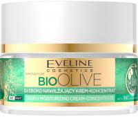 Eveline Cosmetics - BIO OLIVE - DEEPLY MOISTURIZING CREAM-CONCENTRATE - Głęboko nawilżający krem koncentrat do twarzy - Dzień / Noc - 50 ml
