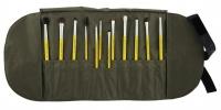 Bdellium tools - Studio Line - Eyes 12pc. Brush Set - Zestaw 12 pędzli do mkijażu oczu w etui