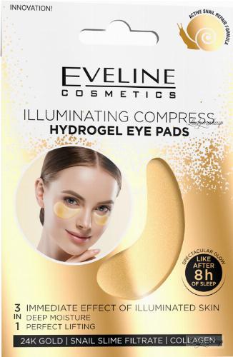 Eveline Cosmetics - ILLUMINATING COMPRESS HYDROGEL EYE PADS - Hydrożelowe, rozświetlające płatki pod oczy - 1 para