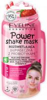 Eveline Cosmetics - Power Shake Mask - Rozświetlająca bio maseczka do twarzy z probiotykami (cera szara i zmęczona) - 10 ml
