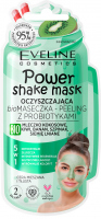 Eveline Cosmetics - Power Shake Mask - Cleansing bio peeling mask with probiotics (combination and oily skin) - 10 ml