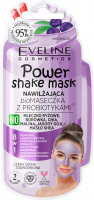 Eveline Cosmetics - Power Shake Mask - Moisturizing bio face mask with probiotics (dry and dehydrated skin) - 10 ml