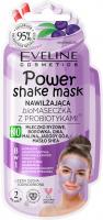 Eveline Cosmetics - Power Shake Mask - Nawilżająca bio maseczka do twarzy z probiotykami (cera sucha i odwodniona) - 10 ml