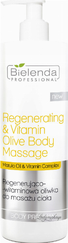 Bielenda Professional - Regenerating & Vitamin Body Massage Olive - Regenerating and vitamin body massage olive - 500 ml