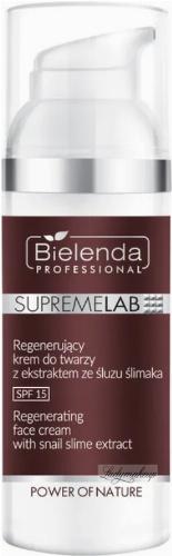 Bielenda Professional - SUPREMELAB - Power of Nature - Regenerating Face Cream With Snail Slime Extract - Regenerating face cream with snail slime - SPF15 - Day - 50 ml