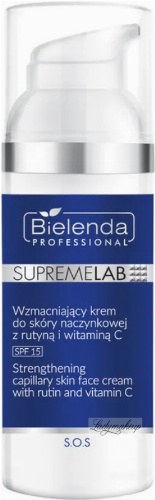 Bielenda Professional - SUPREMELAB - S.O.S. Strengthening Capilary Skin Face Cream With Rutin And Vitamin C - Strengthening Capilary Skin Cream with routine - SPF15 - Day - 50 ml