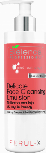 Bielenda Professional - FERUL-X Delicate Face Cleansing Emulsion - Gentle face cleansing emulsion - 160 g