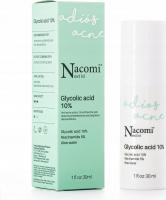 Nacomi Next Level - Glycolic Acid 10% - Peelingujące serum do twarzy z 10% kwasem glikolowym - Noc - 30 ml