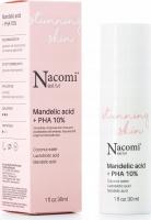 Nacomi Next Level - Mandelic Acid + PHA 10% - Peelingujące serum do twarzy z 10% kwasem migdałowym i PHA - 30 ml
