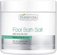 Bielenda Professional - Foot Bath Salt - Foot bath salt with lime and mint - 600 g