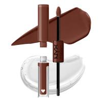 NYX Professional Makeup - SHINE LOUD HIGH PIGMENT LIP SHINE - Płynna, dwustronna pomadka do ust - 6.8 ml - NEVER BASIC - NEVER BASIC
