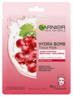 GARNIER - HYDRA BOMB Tissue Mask - Moisturizing and smoothing sheet mask - Grape
