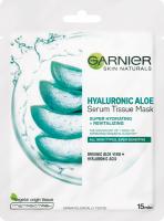 GARNIER - HYALURONIC ALOE SERUM TISSUE MASK - Moisturizing and revitalizing face mask with aloe vera