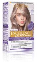 L'Oréal - EXCELLENCE Cool Creme - 8.11 Ultra Ash Light Blonde - Creamy coloring with advanced, triple protection - Ultra Ash Light Blonde